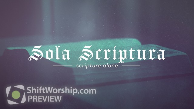 Preview of Reformation Sola Scriptura