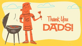 Retro Dad Thank You