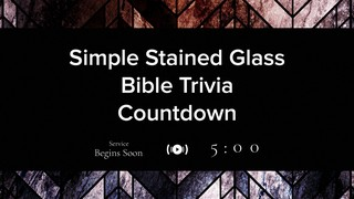 Simple Stained Glass Trivia Countdown