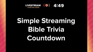 Simple Streaming Countdown