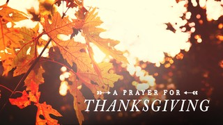 Thanksgiving Light Prayer