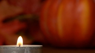Tin Candle Pumpkin