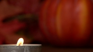 Tin Candle Pumpkin