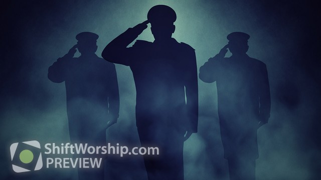 Preview of Veterans Salute Blue