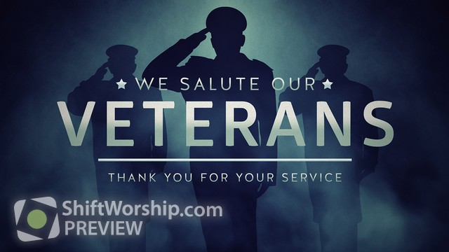 Preview of Veterans Salute Thank You