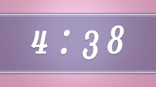 Vintage Purple Countdown
