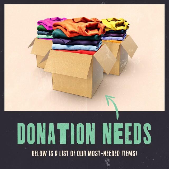 Donation Needs
