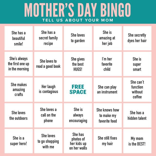 Mother's Day Bingo 2