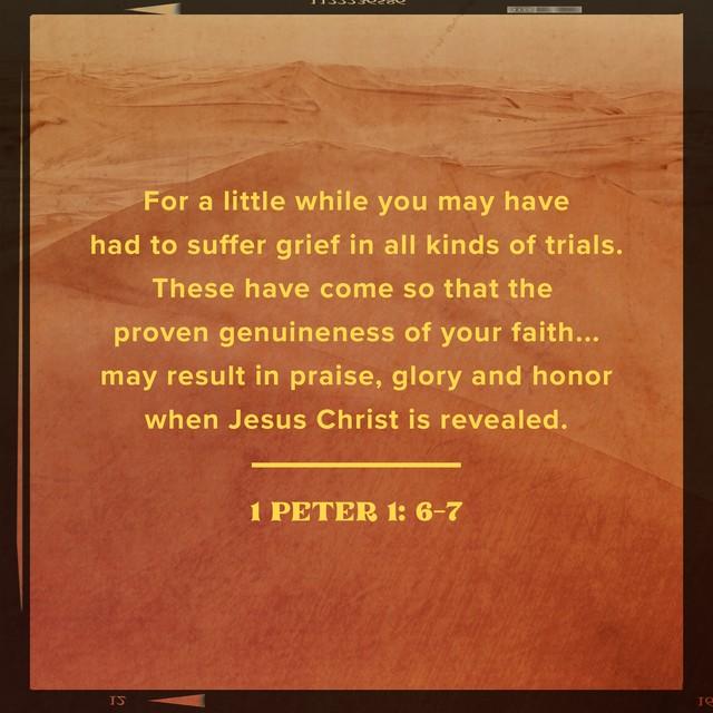 1 Peter 1:6-7