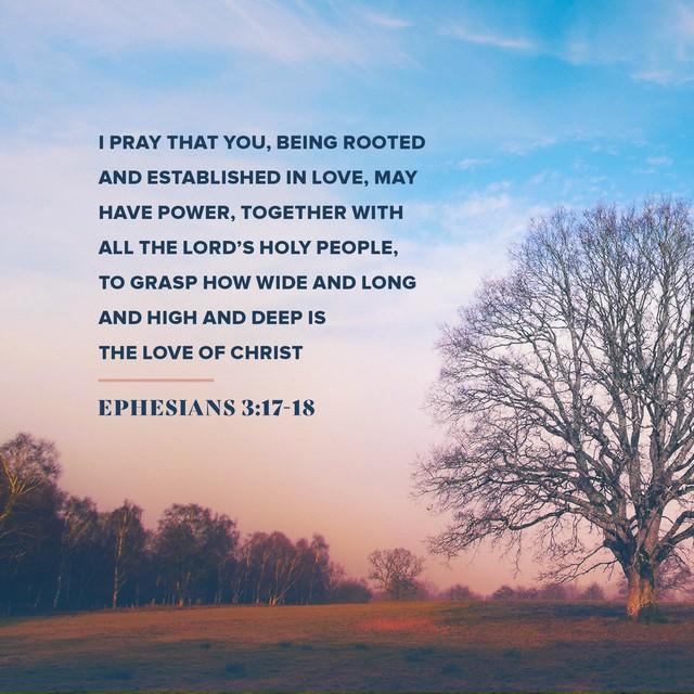Ephesians 3:17-18