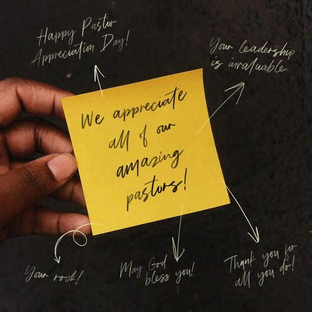 Pastor Appreciation Note