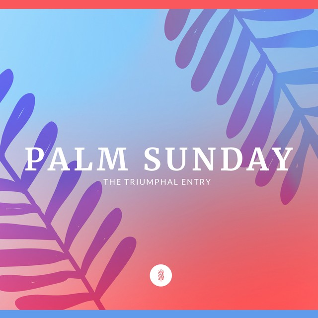 Palm Sunday Icons Social