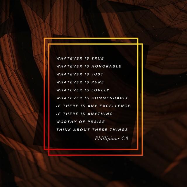 Phillipians 4 8