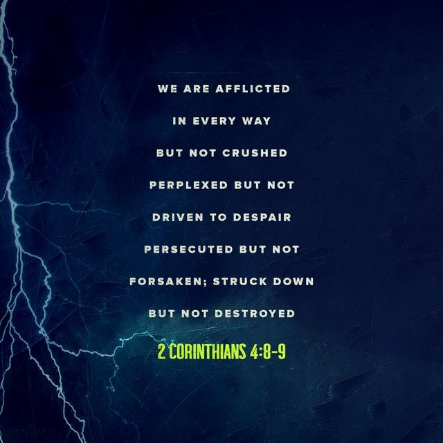 2 Corinthians 4:8-9
