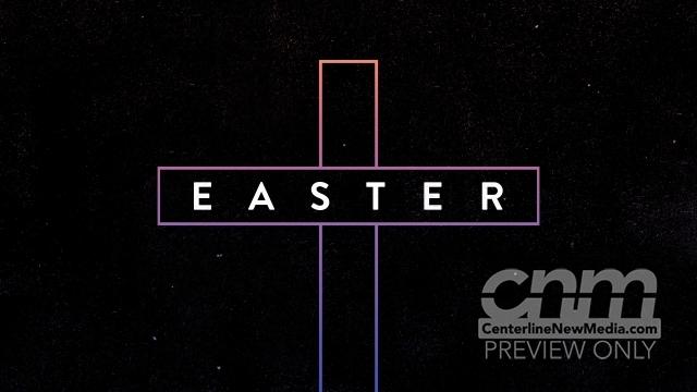 Gradient Easter Cross Title Still