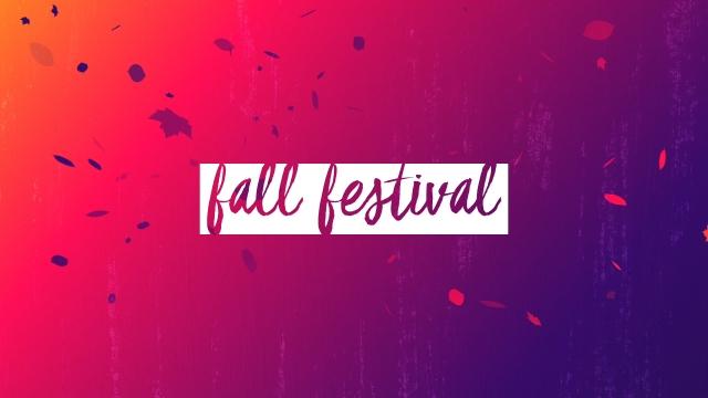 Gradient Leaves Fall Festival
