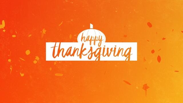 Gradient Leaves Thanksgiving