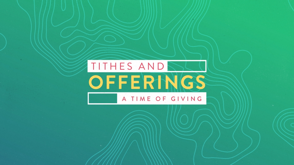 Topo Lines Tithes Offerings
