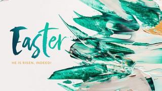 Easter Paint Sermon Title