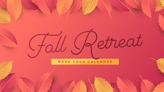 Fall Retreat Sermon