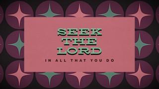 Seek The Lord Title Sermon