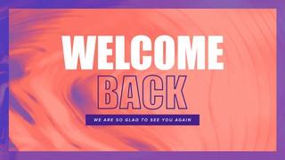 Welcome Back Swirl Sermon