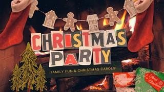 Christmas Party Fireplace Sermon