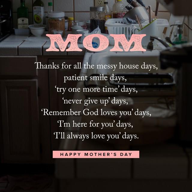 Thanks Mom List